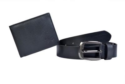 Scharf Men Formal, Evening Black Genuine Leather Belt
