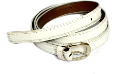 VICTORIA SECRET INDIA Girls, Women White Artificial Leather Belt