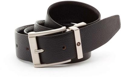 Viari Men Formal Black Genuine Leather Belt