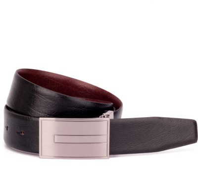 Ohm Leather Men, Boys Casual, Party, Formal, Evening Black, Brown Genuine Leather Reversible Belt
