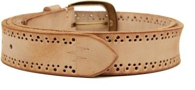 Breakbounce Men Casual Beige Genuine Leather Belt