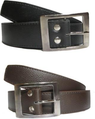 Exclusive Luks Men Casual Brown Artificial Leather Belt