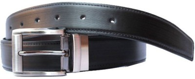 Bacchus Men Formal Black Artificial Leather Reversible Belt