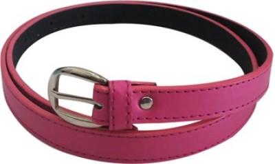 Verceys Girls, Women Casual Pink Artificial Leather Belt