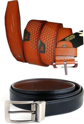 GINWALA Boys, Men Casual Multicolor Genuine Leather Reversible Belt