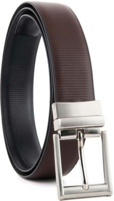 YOURS LUGGAGE Boys, Men Casual, Party, Formal, Evening Black, Brown Synthetic, Artificial Leather, Genuine Leather Reversible Belt