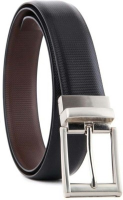 YOURS LUGGAGE Boys, Men Casual, Party, Formal Black, Brown Synthetic, Artificial Leather, Genuine Leather Reversible Belt
