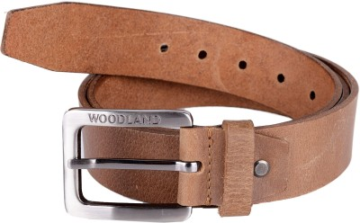 Woodland Men Tan Genuine Leather Belt