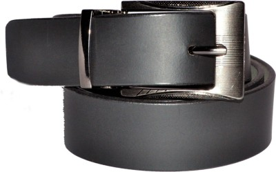 GE ACCESSORIES Men Black Genuine Leather Belt