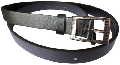 DCS Women Casual Black Artificial Leather Belt