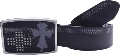 Guess Men Casual, Formal, Party Black Genuine Leather Belt