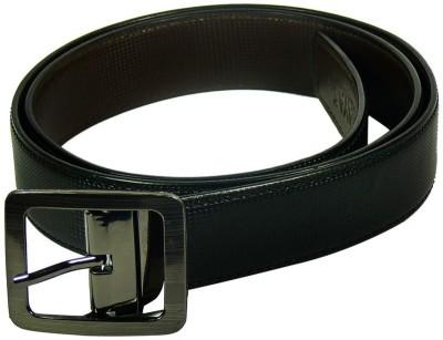 Maayas Men Formal Black, Brown Artificial Leather Reversible Belt