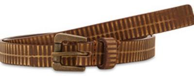 Paradigm Design Lab Girls Casual Brown Genuine Leather Belt