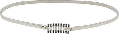 Aadi And Sons Women Casual Silver Metal Belt