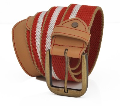Stylox Men Casual Red Synthetic Belt