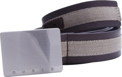 Guess Men Casual, Formal, Party Brown Genuine Leather Belt