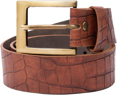 Urban Navy Men Casual Tan Artificial Leather Belt