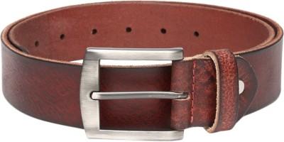 Roadster Men Casual Maroon Genuine Leather Belt