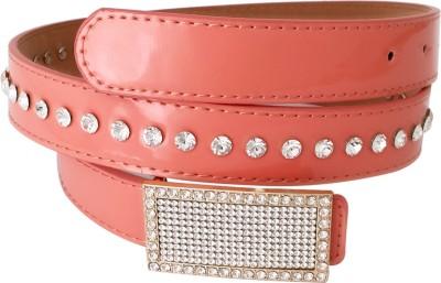 Super Drool Girls, Women Casual Pink Artificial Leather Belt
