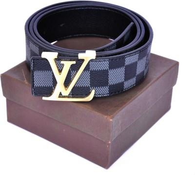 Zaira diamond Men Grey Genuine Leather Belt