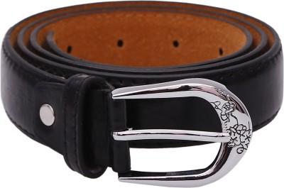 Stylehoops Boys, Men, Girls, Women Black Artificial Leather Belt