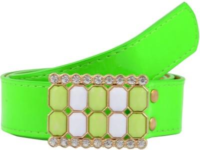 Antiformal Women Party, Casual Green Artificial Leather Belt