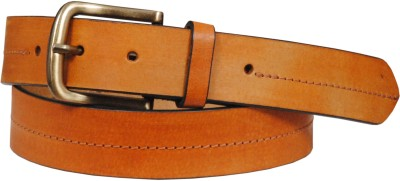 Swastika Men Party Brown Genuine Leather Belt