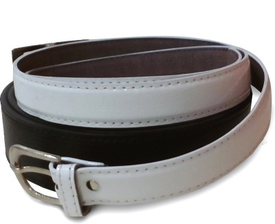 VICTORIA SECRET INDIA Men, Women Casual Black, White Artificial Leather Belt