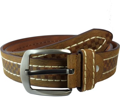 Ammvi Creations Men Casual Brown Genuine Leather Belt