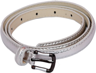 SRI Women Casual, Party Silver Artificial Leather Belt