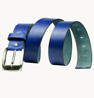99Cells Men, Women Casual Blue Genuine Leather Belt