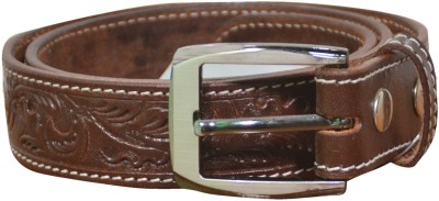 Myesquire Men Casual Tan Genuine Leather Belt