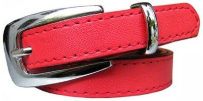 kamalgarments Men Red Artificial Leather Belt