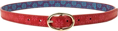 Holii Women Pink Genuine Leather Belt