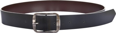 dM Men Casual, Party, Formal, Evening Black Artificial Leather Reversible Belt