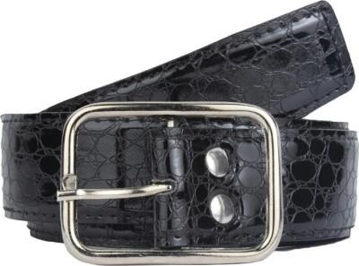 dM Men Casual Black Artificial Leather Belt