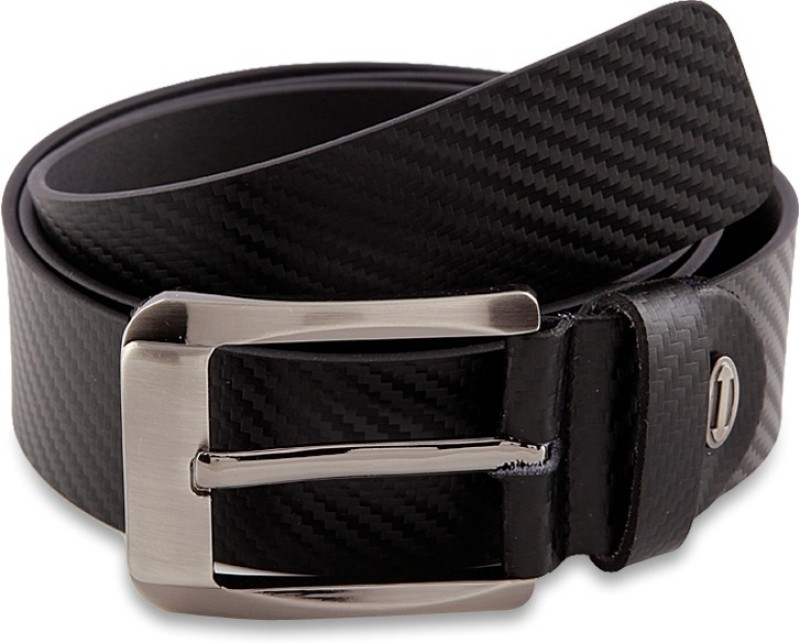 Aditi Wasan Men Formal Black Genuine Leather Belt