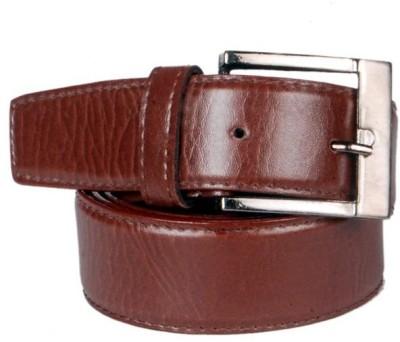 KRG ENTERPRISES Men Formal Brown Genuine Leather Belt