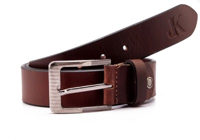 Junckers Men Casual, Evening, Formal, Party Brown Genuine Leather Belt