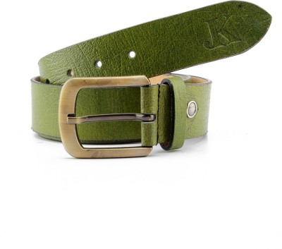 Junckers Men, Boys Formal, Casual, Party, Evening Green Genuine Leather Belt