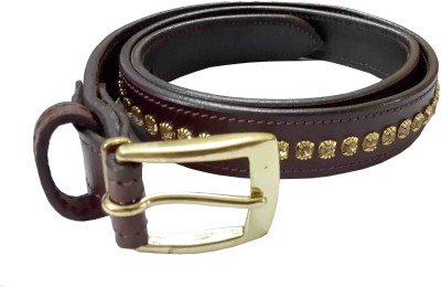 Sterling Germany Women, Girls Casual, Party Brown Genuine Leather Belt