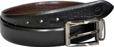 MOSPL Men Black, Brown Genuine Leather Belt