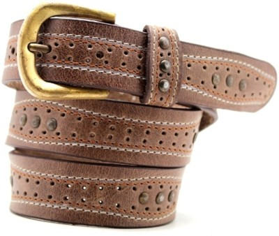 LaPalma Girls Casual Brown Genuine Leather Belt