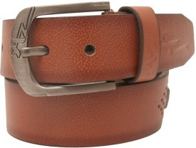 Genstyl Men Tan Artificial Leather Belt
