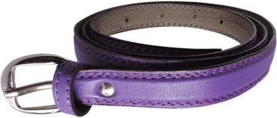 FINCH FEATHER Girls, Women Casual, Formal Purple Artificial Leather Belt