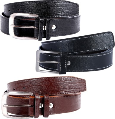 KRITIKAS,WORLD Men Casual Multicolor Artificial Leather Belt
