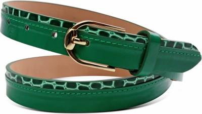 Just Women Women Casual Green Artificial Leather Belt
