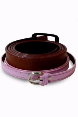 VICTORIA SECRET INDIA Men, Women Casual Brown, Pink Artificial Leather Belt