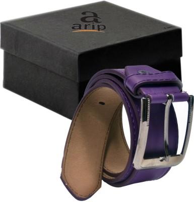 ARIP Men, Boys Formal Purple Texas Leatherite Belt