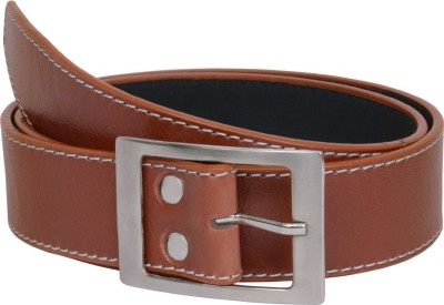 The Brandstand Men Casual Tan Texas Leatherite Belt